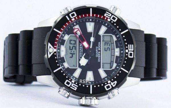 Citizen Aqualand Promaster Divers 200M Analog Digital JP1098-17E Mens Watchci