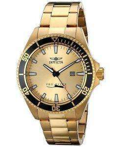 Invicta Pro Diver Gold Tone Quartz 15186 Mens Watch