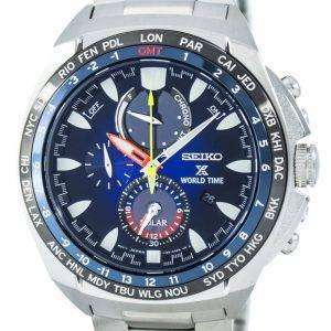 Seiko Prospex World Time Solar Chronograph SSC549 SSC549P1 SSC549P Men's Watch