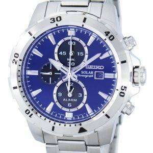 Seiko Solar Chronograph Alarm SSC555 SSC555P1 SSC555P Men's Watch