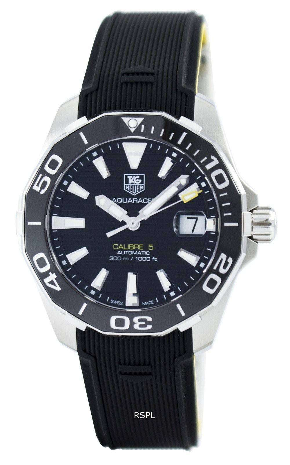 Tag heuer aquaracer automatic calibre 5 swiss made 300m way211a ft6068 men 39 s watch zetawatches for Tag heuer automatic