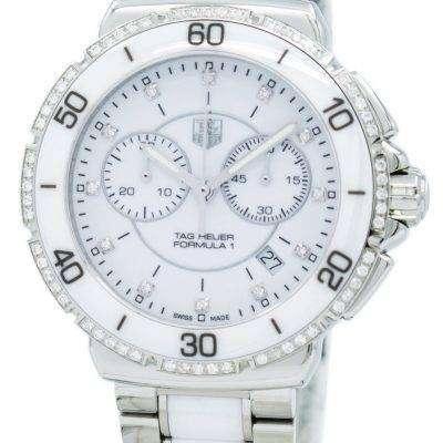 "Tag Heuer ""Formula One"" Diamonds Accent Chronograph Quartz CAH1213.BA0863 Women's Watch"