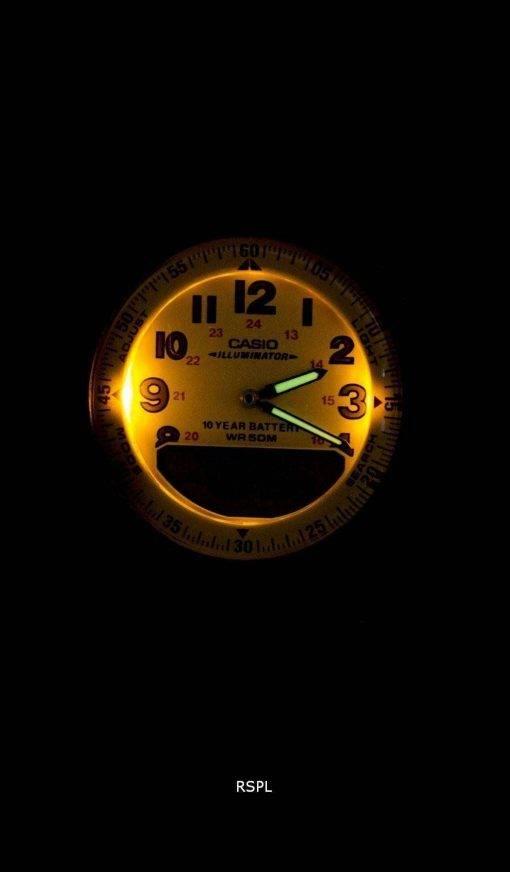 Casio Analog Digital Telememo Illuminator AW-80V-5BVDF AW-80V-5BV Mens Watch