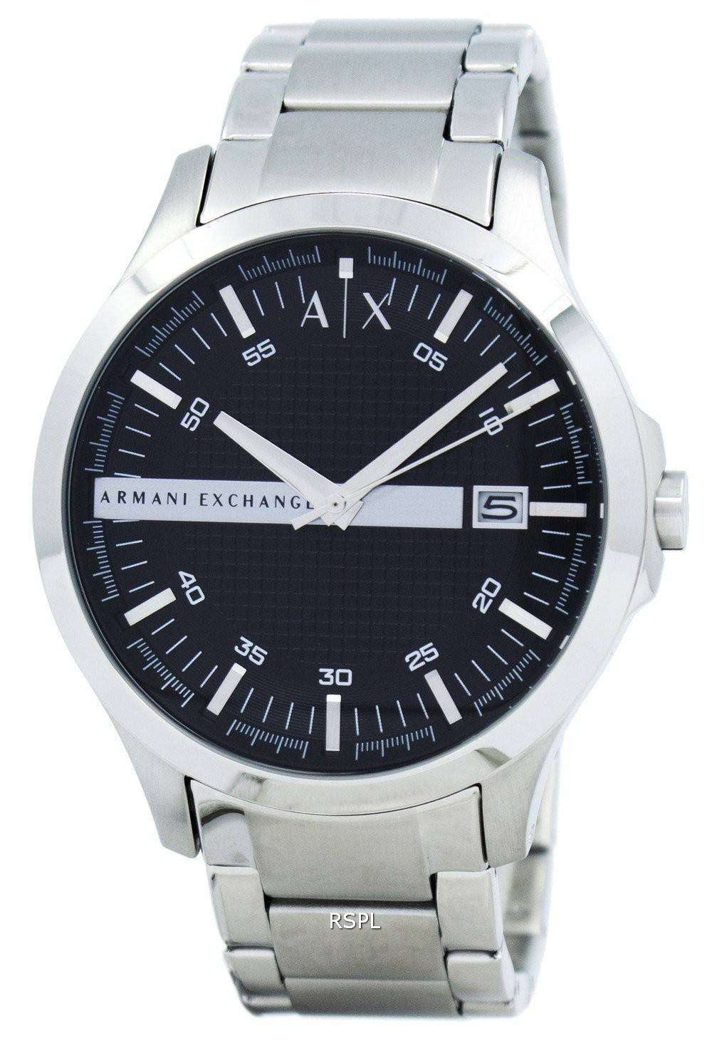 56e79d2302f1 Armani Exchange Black Dial Stainless Steel AX2103 Mens Watch ...
