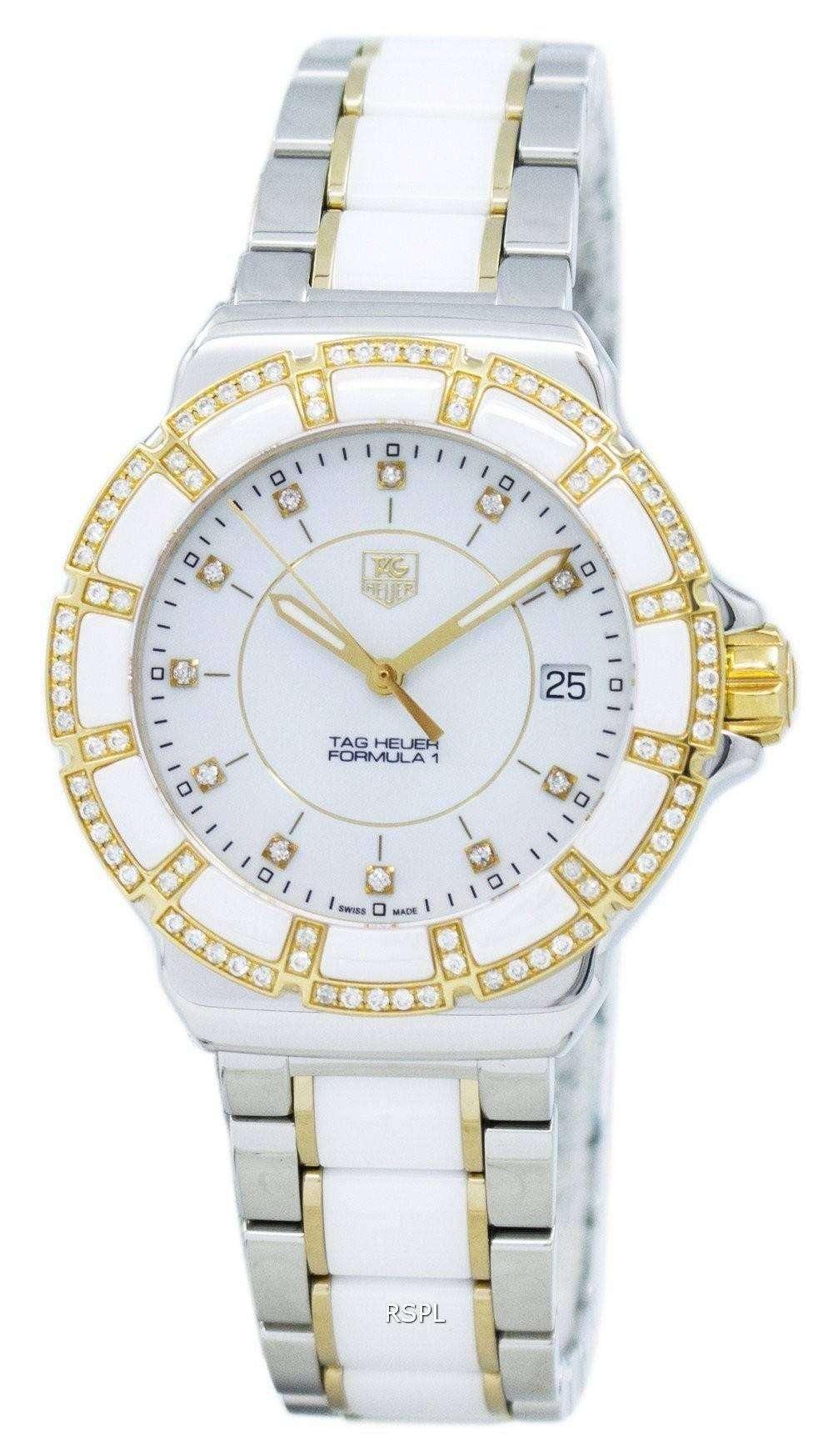 fa884b01a83c TAG Heuer Formula 1 Diamond Accent Quartz 200M WAH1221.BB0865 Women s Watch