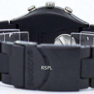 Swatch Irony Black Coated Chorongraph Quartz YCB4019AG Unisex Watch