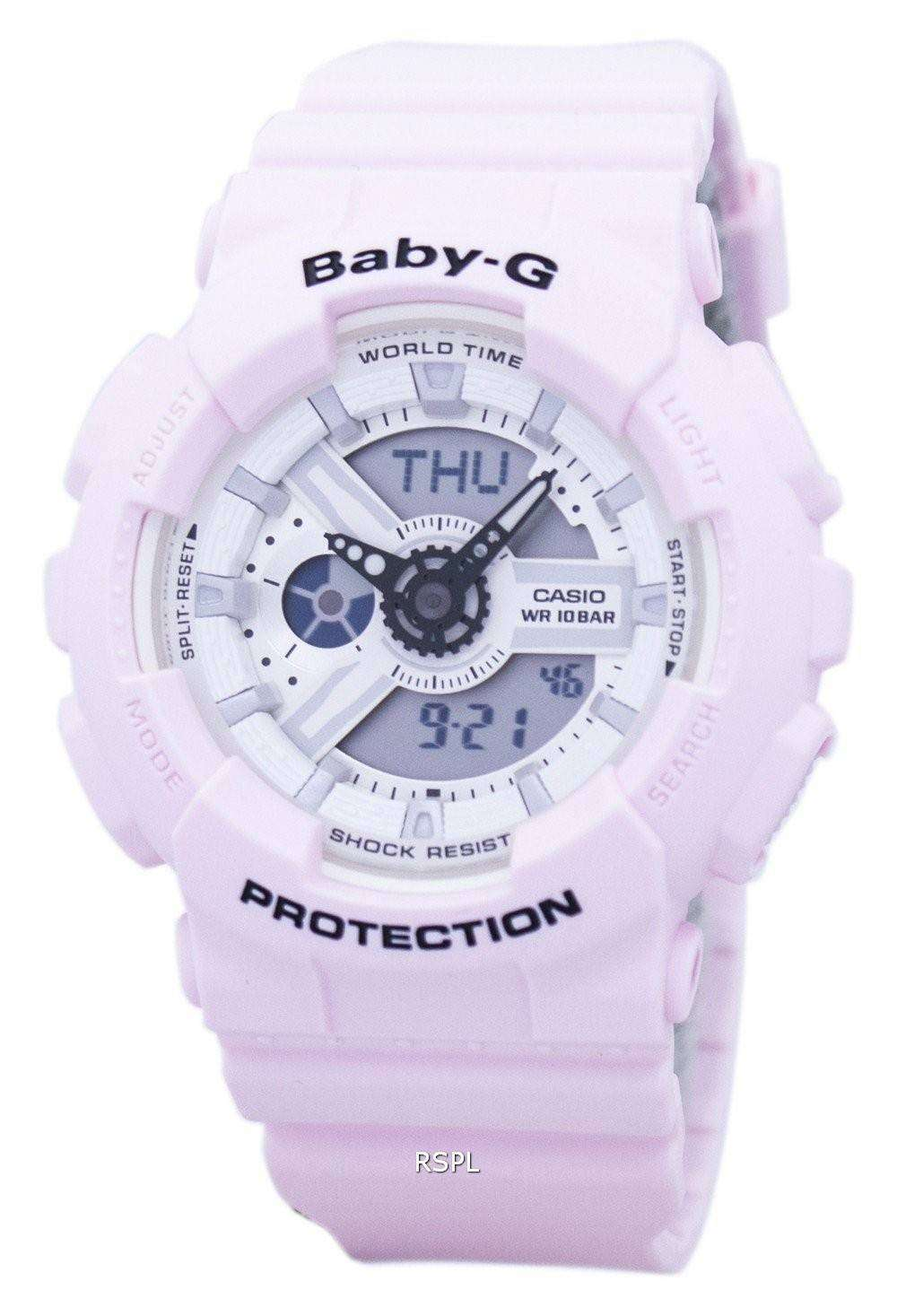 bf6013d78cf Casio Baby-G Shock Resistant World Time Analog Digital BA-110BE-4A Women s