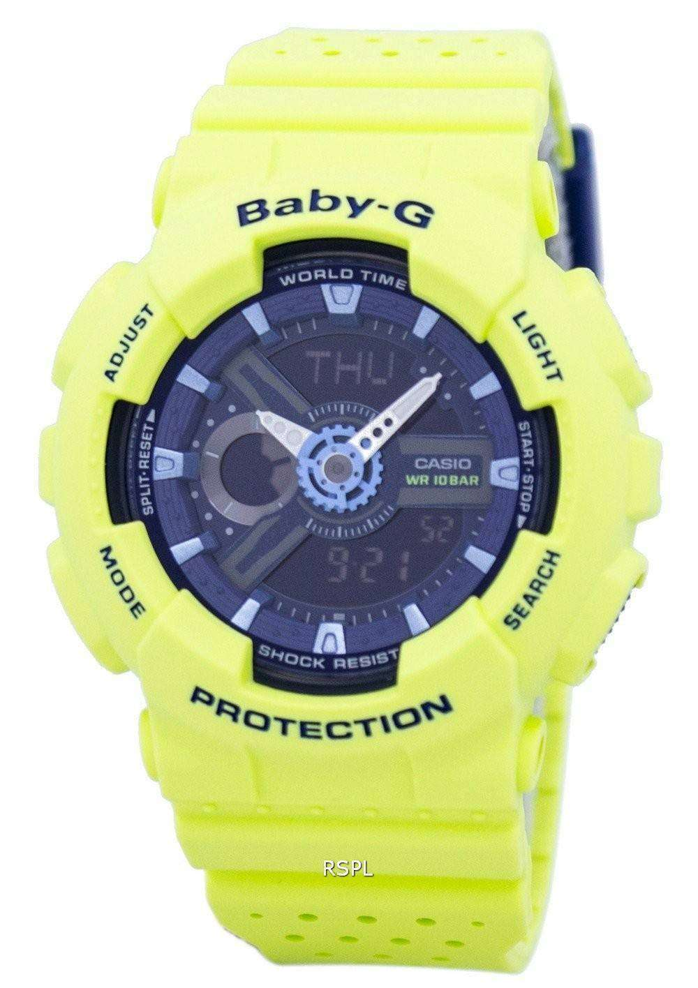 cfad996afa785 Casio Baby-G Shock Resistant World Time Analog Digital BA-110PP-3A Women s