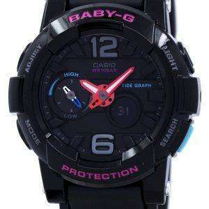 Casio Baby-G Shock Resistant Tide Graph Analog Digital BGA-180-1B Women's Watch