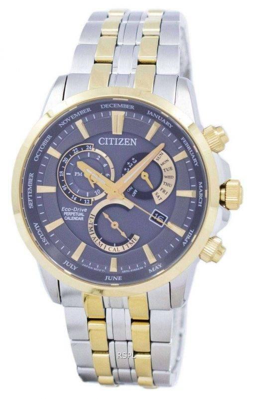 Citizen Eco-Drive Chronograph Perpetual Calendar Alarm BL8144-89H Men's Watch