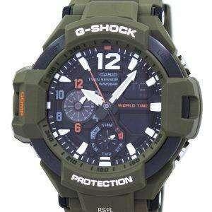 Casio G-Shock Gravitymaster Analog Digital Twin Sensor World Time GA-1100KH-3A Men's Watch