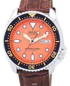 Seiko Automatic Diver's Ratio Brown Leather SKX011J1-LS7 200M Men's Watch