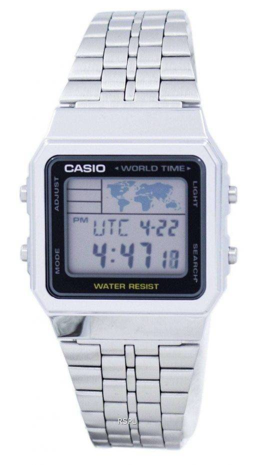 Casio Alarm World Time Digital A500WA-1DF Men's Watch