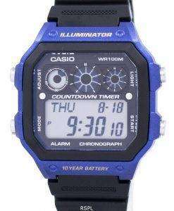 Casio Youth Series Illuminator Chronograph Alarm AE-1300WH-2AV Men's Watch