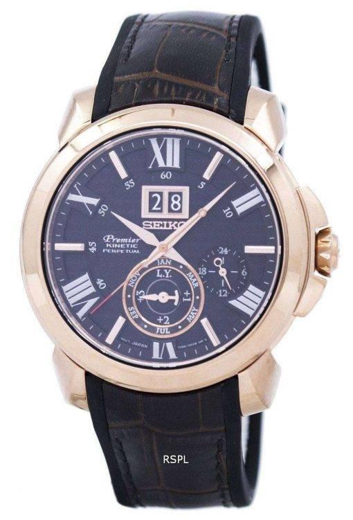 Seiko Premier Kinetic Perpetual Calendar SNP146 SNP146P1 SNP146P Men's Watch