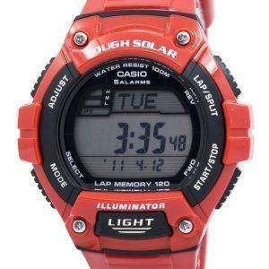 Casio Illuminator Tough Solar Lap Memory Alarm Digital W-S220C-4AV Men's Watch