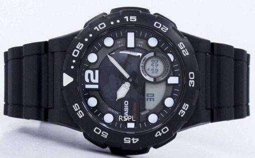 Casio World Time Alarm Analog Digital AEQ-100W-1AV Men's Watch