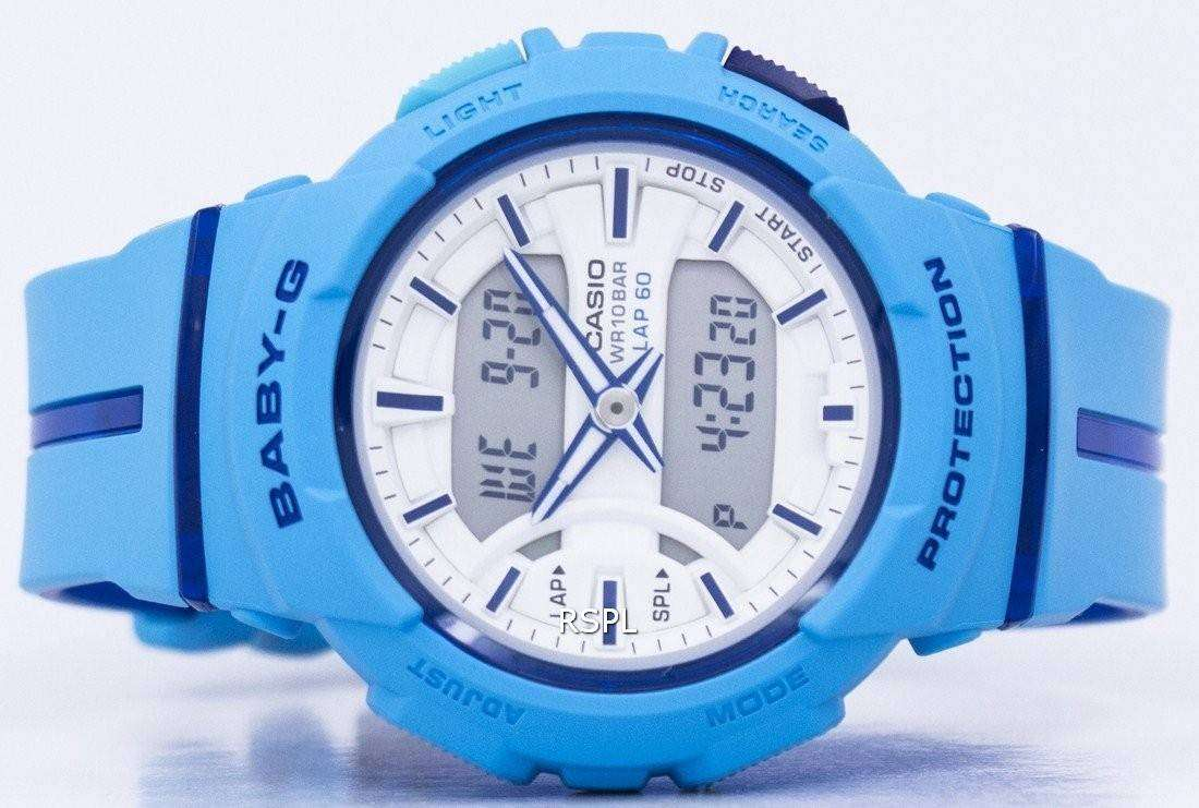 Casio Baby G Shock Resistant Dual Time Analog Digital Bga 240l 2a2 240 1a2 Womens