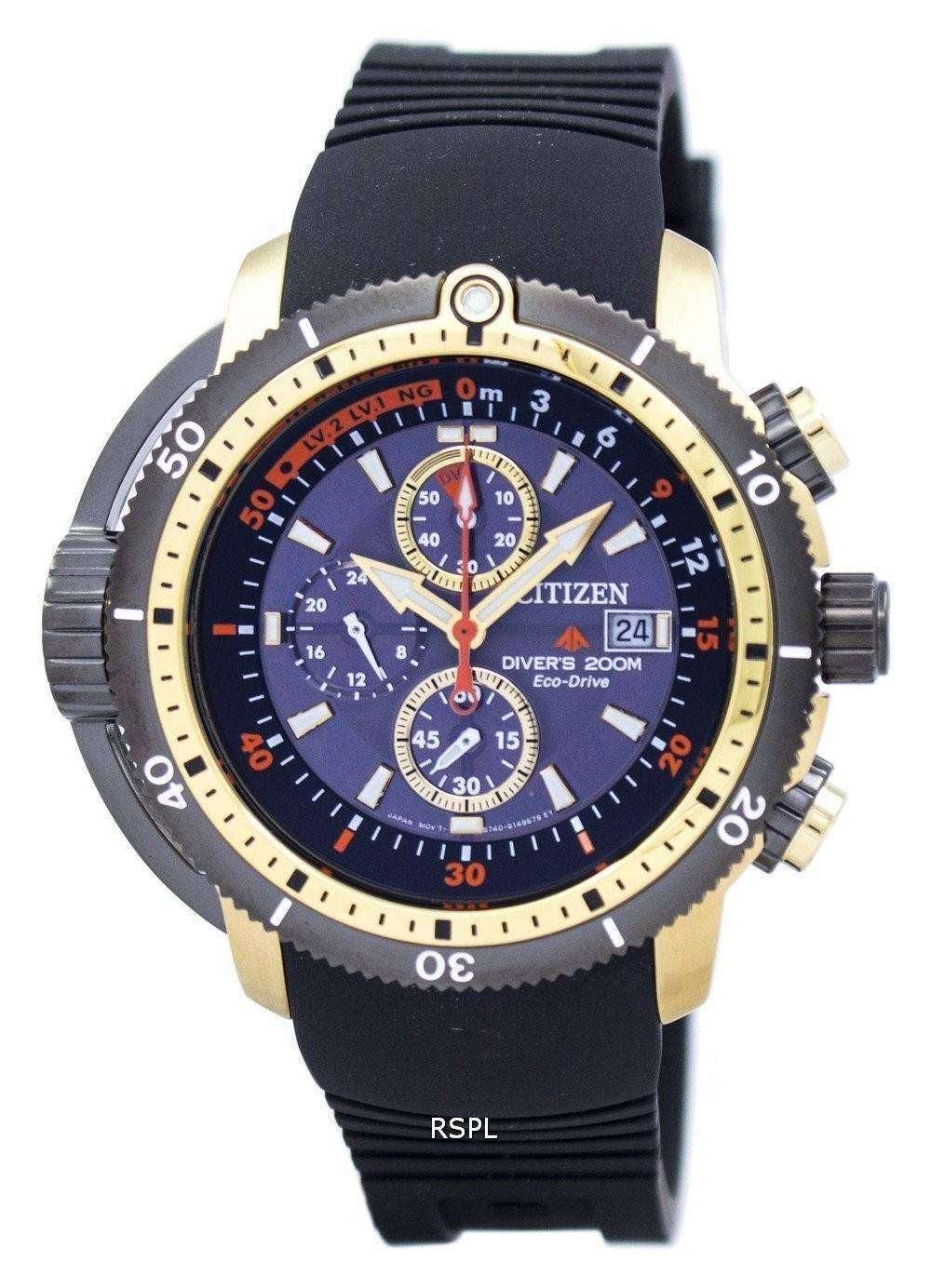 Citizen Promaster Aqualand Diver Eco-Drive Chronograph BJ2124-14E Men s  Watch 7a3cac4a0c2