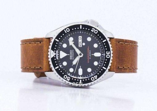 Seiko Automatic Diver's Ratio Brown Leather SKX007J1-LS9 200M Men's Watch