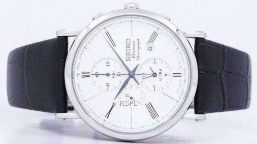 Seiko Premier Chronograph Quartz Alarm SNAF77 SNAF77P1 SNAF77P Men's Watch