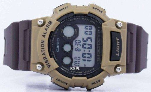 Casio Super Illuminator Vibration Alarm Digital W-735H-5AV Men's Watch