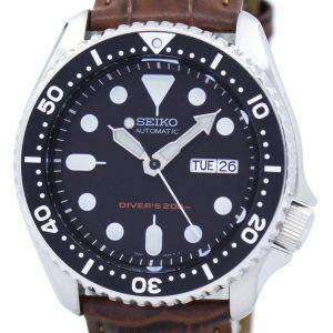 Seiko Automatic Diver's 200M Ratio Brown Leather SKX007K1-LS7 Men's Watch
