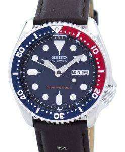 Seiko Automatic Diver's 200M Ratio Dark Brown Leather SKX009K1-LS11 Men's Watch