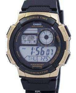 Casio Illuminator World Time Alarm AE-1000W-1A3V AE1000W-1A3V Men's Watch