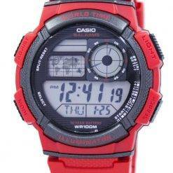 Casio Youth World Time Alarm World Map AE-1000W-4AV AE1000W-4AV Men's Watch