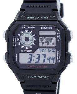 Casio Youth Illuminator World Time Alarm AE-1200WH-1AV AE1200WH-1AV Men's Watch