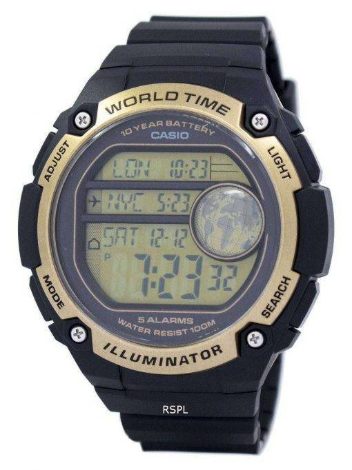 Casio Youth Illuminator World Time Alarm AE-3000W-9AV AE3000W-9AV Men's Watch