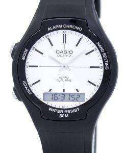 Casio Dual Time Alarm Quartz Analog Digital AW-90H-7EV AW90H-7EV Men's Watch