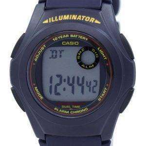 Casio Illuminator Dual Time Alarm Chrono F-200W-2ASDF F200W-2ASDF Men's Watch