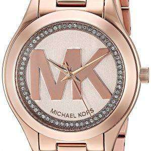 Michael Kors Mini Slim Runway Quartz Diamond Accent MK3549 Women's Watch