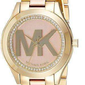 Michael Kors Mini Slim Runway Quartz Diamond Accent MK3650 Women's Watch