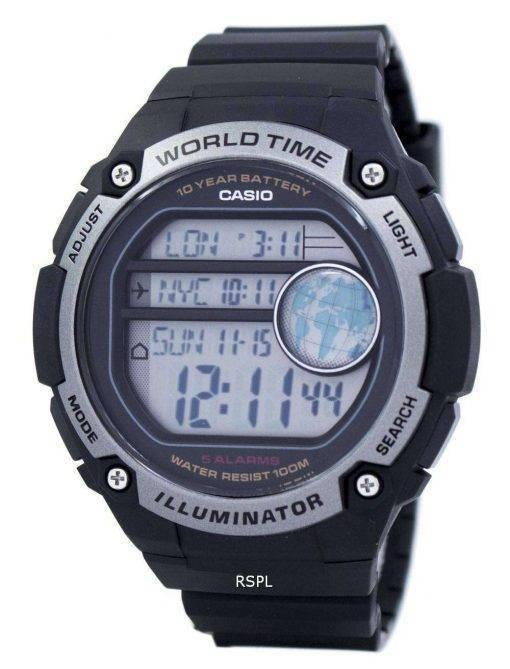 Casio Youth Illuminator World Time Digital AE-3000W-1AV AE3000W-1AV Men's Watch