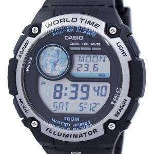 Casio Youth Illuminator World Time Digital CPA-100-1AV CPA100-1AV Men's Watch