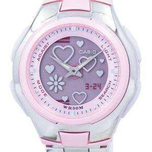 Casio Poptone World Time Analog Digital LCF-10D-4AV LCF10D-4AV Women's Watch