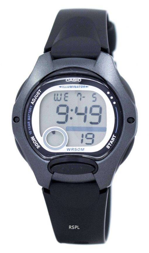 Casio Illuminator Dual Time Alarm Digital LW-200-1BV LW200-1BV Women's Watch
