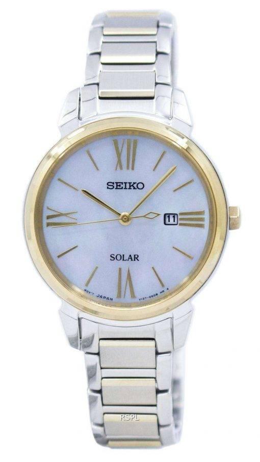Seiko Solar SUT324 SUT324P1 SUT324P Women's Watch