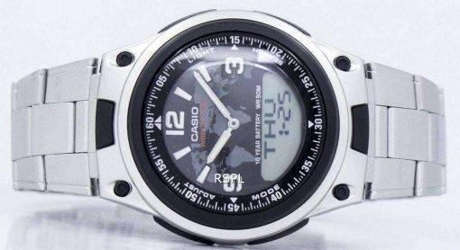 Casio World Time Databank Analog Digital AW-80D-1A2V AW80D-1A2V Men's Watch