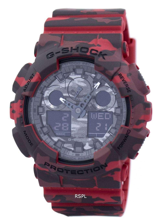 Casio G Shock Camouflage Series Analog Digital Ga 100cm 4a Mens 100b 4adr Watch