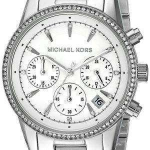 Michael Kors Ritz Chronograph Quartz Diamond Accent MK6428 Women's Watch
