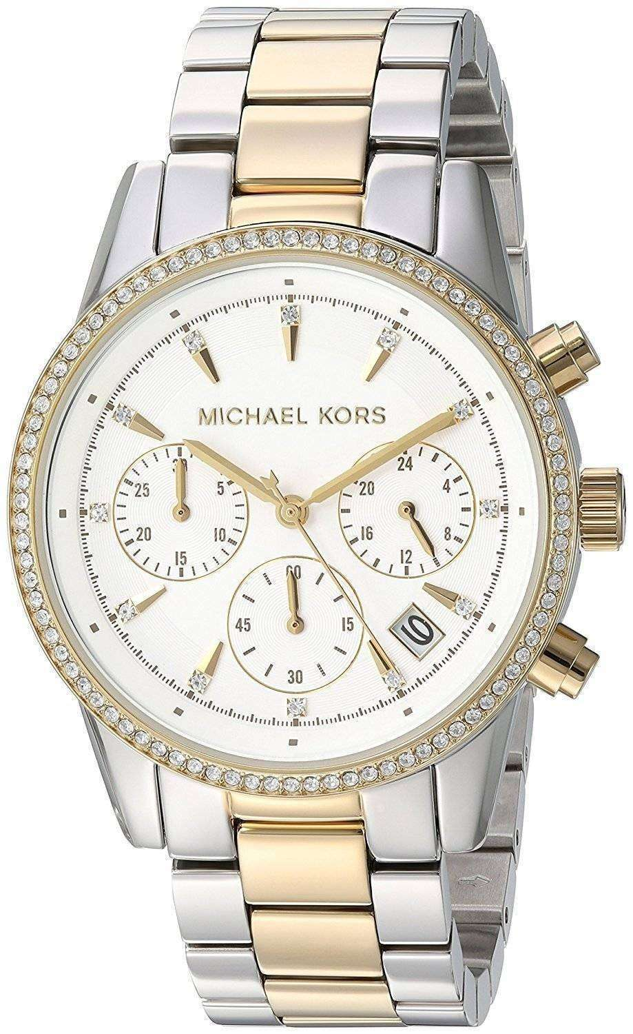 c1b65653d Michael Kors Ritz Chronograph Quartz Diamond Accent MK6474 Women's Watch