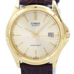Casio Quartz Analog Gold Dial MTP-1183Q-9ADF MTP-1183Q-9A Mens Watch