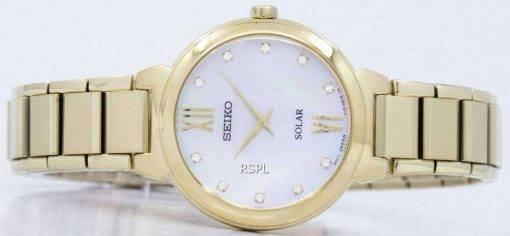 Seiko Solar Diamond Accent SUP384 SUP384P1 SUP384P Women's Watch