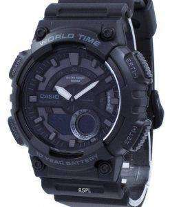 Casio Youth Telememo 30 World Time AEQ-110W-1BV AEQ110W-1BV Men's Watch