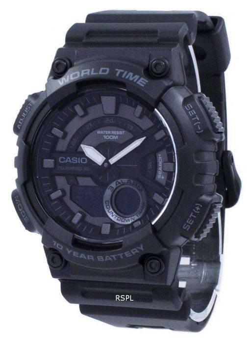 Casio Youth Telememo 30 World Time AEQ-110W-1BV AEQ110W-1BV Men's Watch