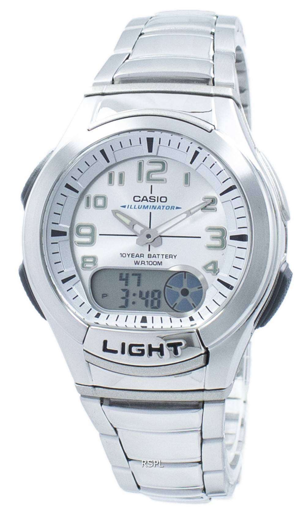 Casio Youth Illuminator Analog Digital AQ-180WD-7BV ...